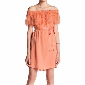 NWT Do + Be Lace Off The Shoulder Slip Dress